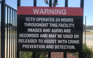 Security terms sign